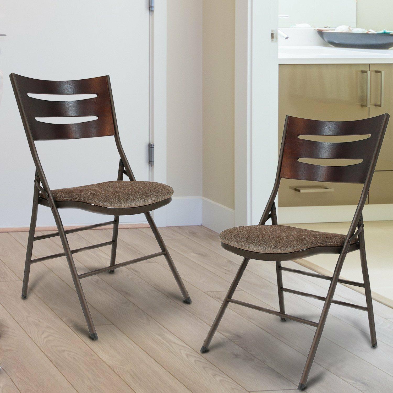 AdecoTrading Tubular Steel Folding Chair & Reviews