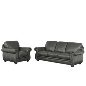 Fairdale 2 Piece Leather Living Room Set by ..