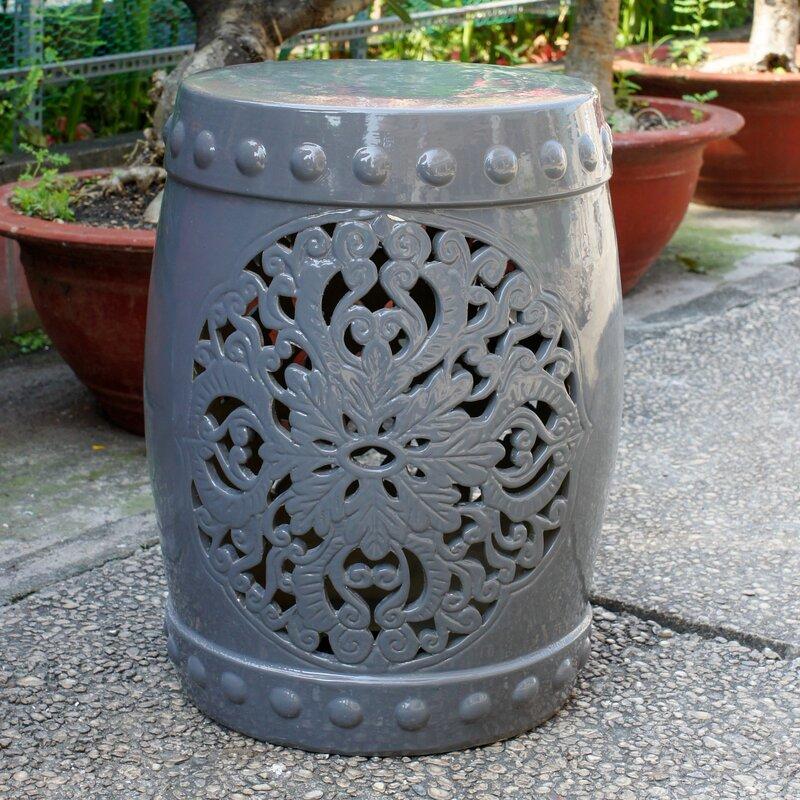 nieto ceramic garden stool - Ceramic Garden Stool