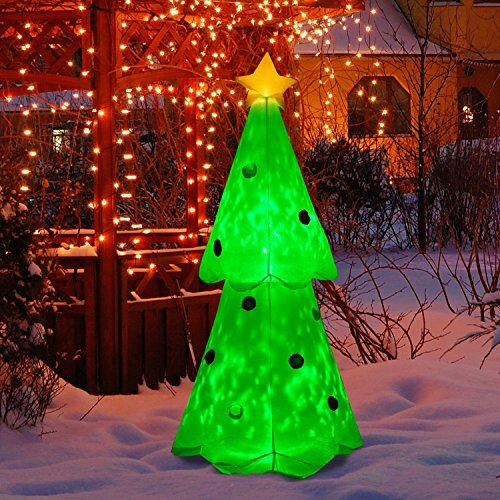Glowing Christmas Tree LED Lighted Outdoor Airblown Inflatable - The Holiday Aisle Glowing Christmas Tree LED Lighted Outdoor