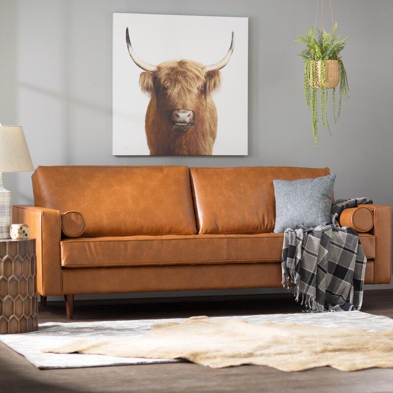 Trent Austin Design Bombay Leather Sofa & Reviews   Wayfair