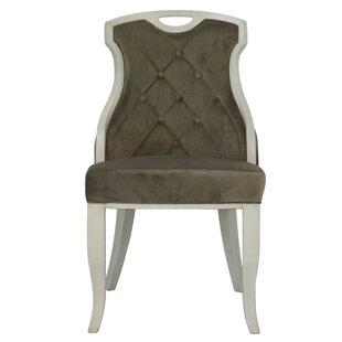 Trotman Velvet Serenity Upholstered Dining Chair (Set of 2)