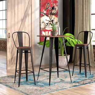 Lyndia 3 Piece Pub Table Set
