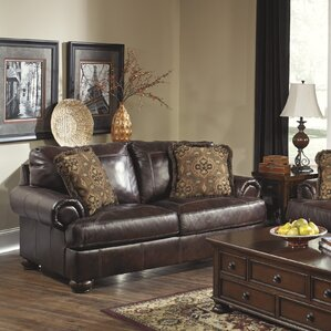 Bannister Leather Loveseat by Darby Home Co