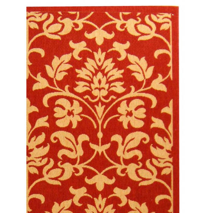 Bexton Hand-Woven Red/Natural Indoor/Outdoor Area Rug