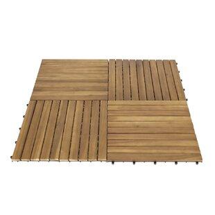 50cm x 50cm Wooden Floor Tile by Home & Haus