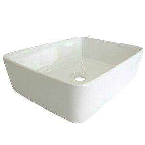 French Ceramic Rectangular Vessel Bathroom Sink
