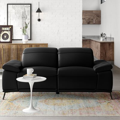 Modern Leather Sofas Couches Allmodern