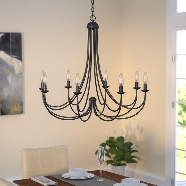 Three Posts Buckland 8-Light Candle-Style Chandelier