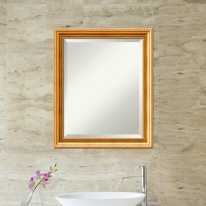 Bathroom Mirrors Jhb rose gold mirror | wayfair