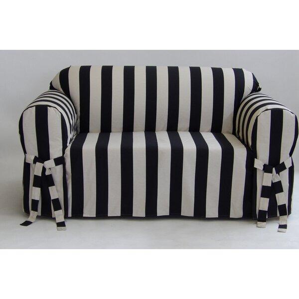 Breakwater Bay Stripe Box Cushion Slipcover Amp Reviews