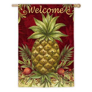 Ordinaire Welcome Pineapple Garden Flag