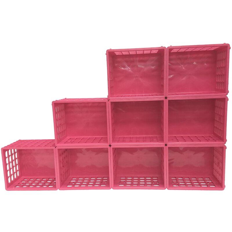 rebrilliant modular storage plastic cube reviews wayfair rh wayfair com plastic cube wall shelves buy plastic cube storage shelves
