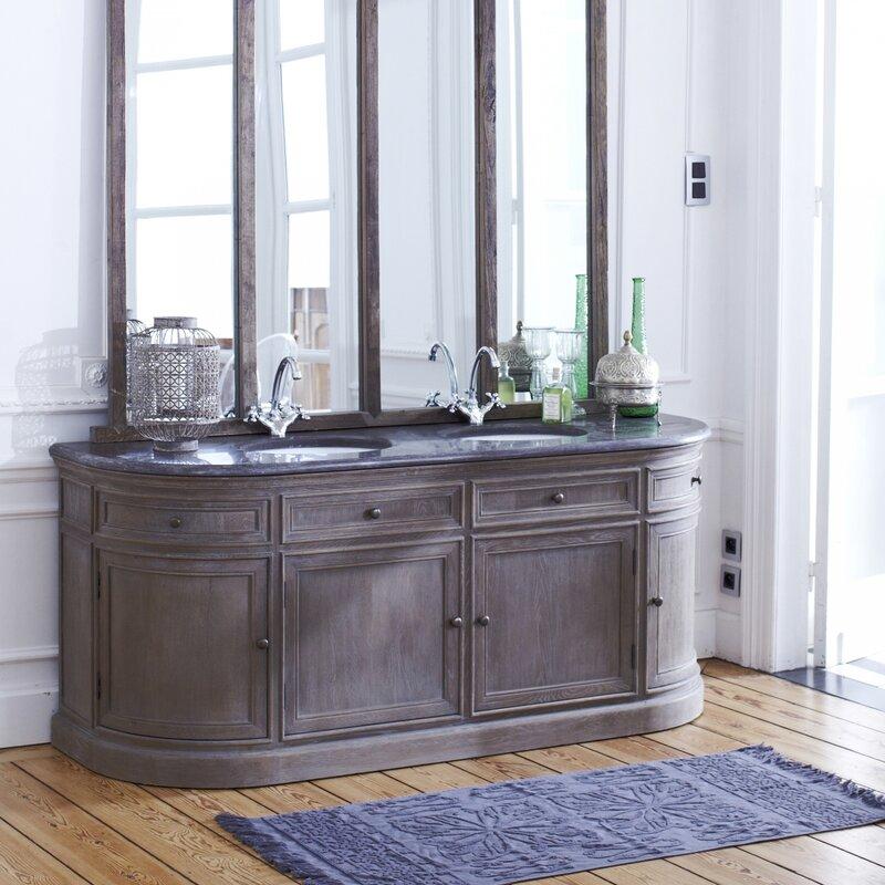 Groovy Louise Solid Oak 1800Mm Free Standing Vanity Unit Beutiful Home Inspiration Xortanetmahrainfo