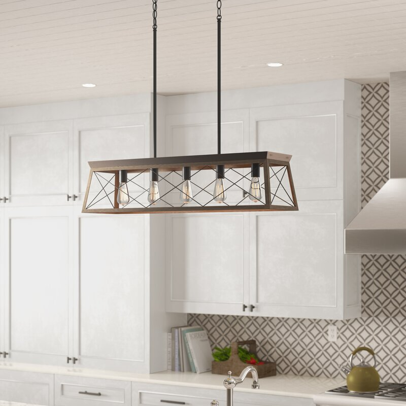 Hanging Kitchen Lights Over Island: Laurel Foundry Modern Farmhouse Delon 5-Light Kitchen