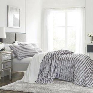 hitton crushed velvet quilt set - Velvet Bedding