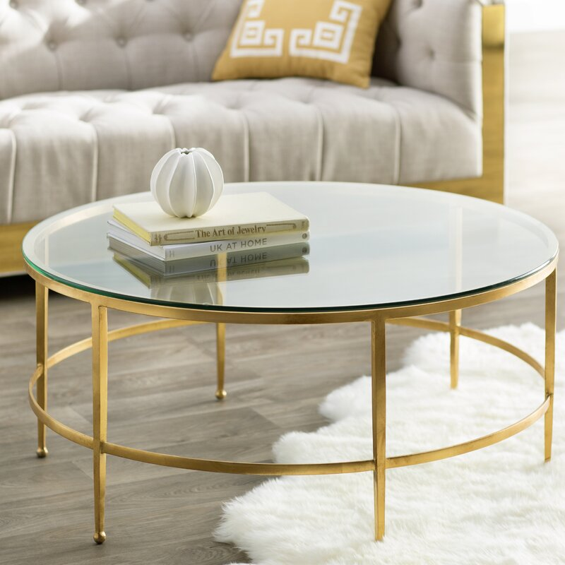 Brass Marble Center Table