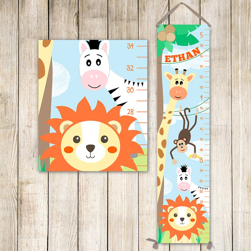 Jolie Prints Jungle Animal Growth Chart Wayfair