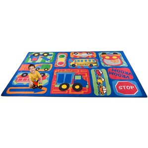 Vroom Vroom Car Play Area Rug