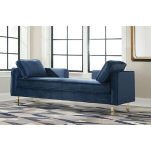 Licker Fabric Chaise Lounge by Everly Quinn