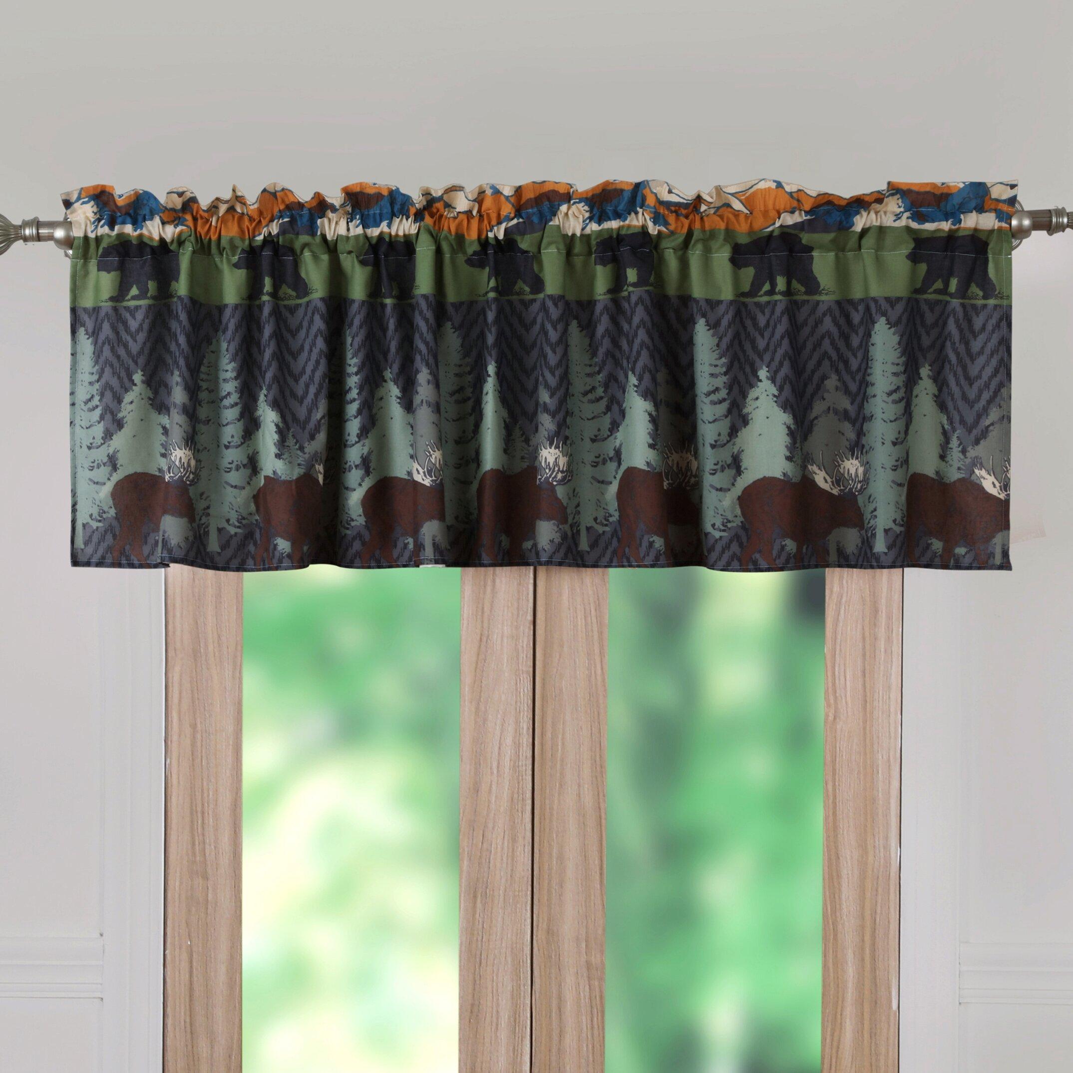 Greenland Home Fashions Black Bear Lodge Window 84 Curtain Valance Reviews Wayfair