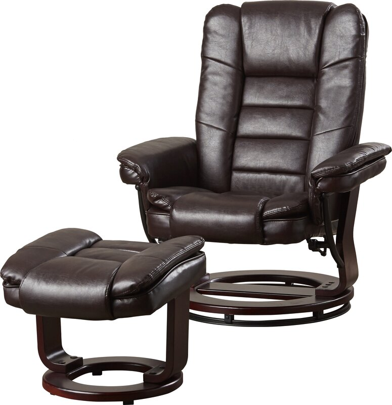 Manual Swivel Recliner with Ottoman  sc 1 st  Wayfair : recliner and ottoman - islam-shia.org