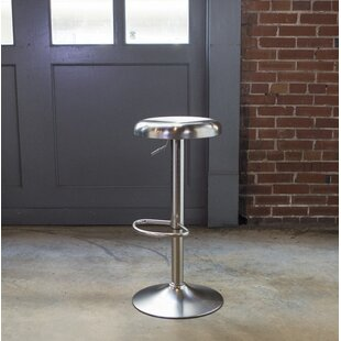 Loft Stainless Steel Adjustable Height Swivel Bar Stool