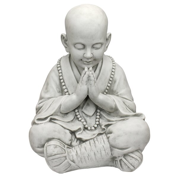 Design Toscano Praying Baby Buddha Asian Garden Statue