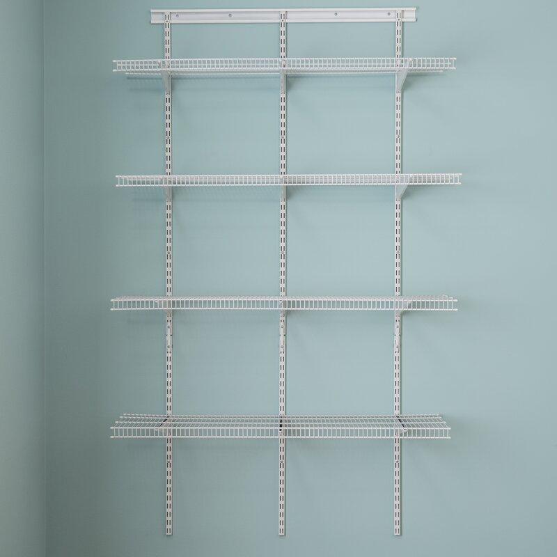 Closetmaid Shelftrack 48 Quot W Pantry Wall Shelf Amp Reviews