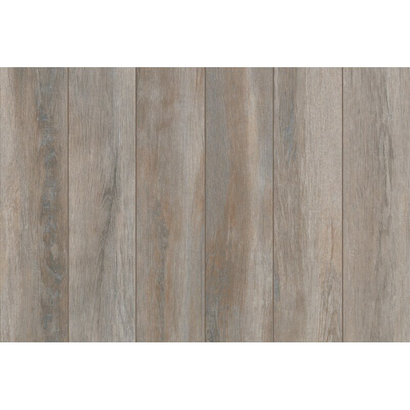 Mohawk Stanbury Glazed 6 X 24 Porcelain Wood Look Tile In Stormy