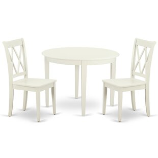 Kozlowski 3 Piece Solid Wood Breakfast Nook Dining Set