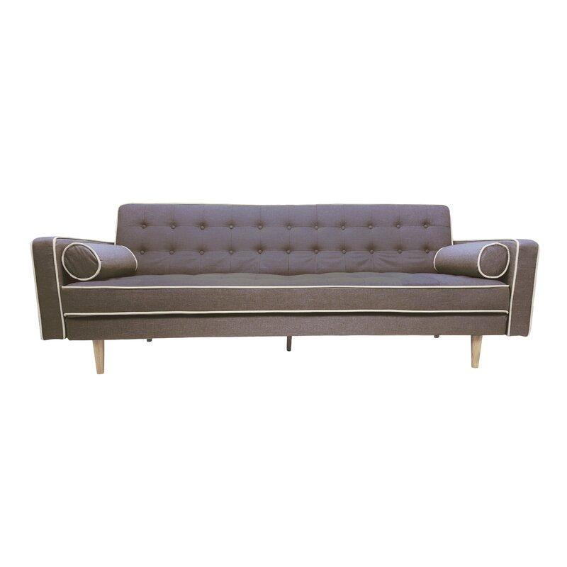 Beau Clarissa 2 Tone Mid Century Sleeper Sofa