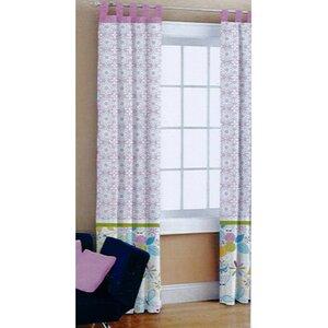 Heritage Club Pair Owl Nature/Floral Semi-Sheer Tab Top Curtain Panels (Set of 2)