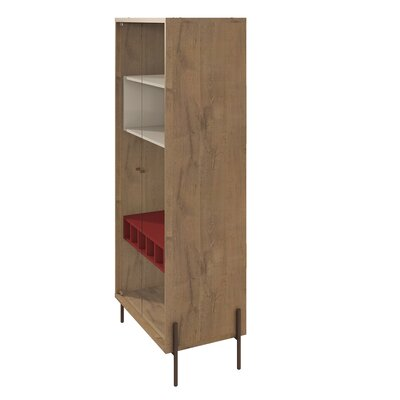 Turn on the Brights Alviso China Cabinet Color: Red