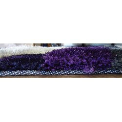 living shag handtufted graypurple area rug