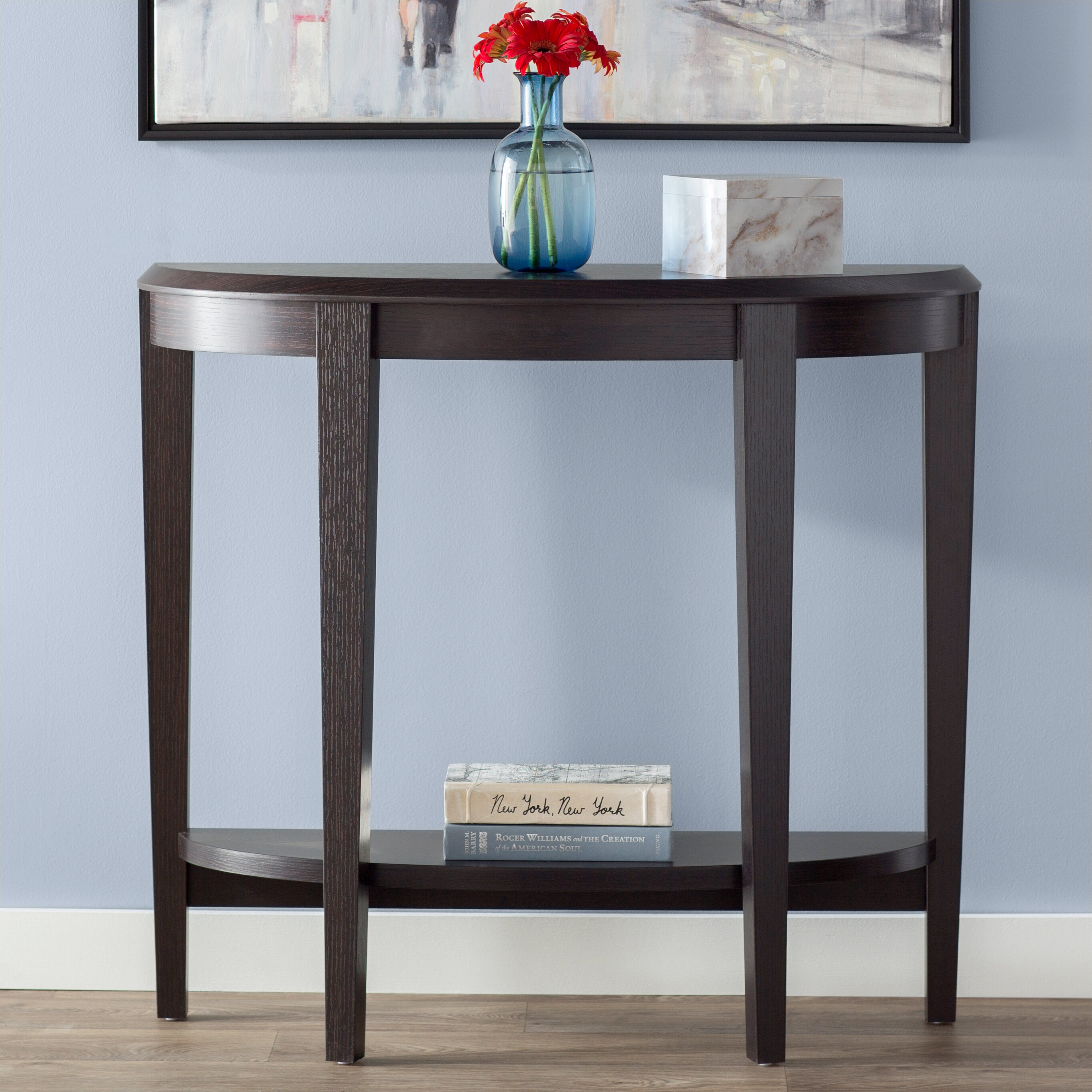 Incredible Half Moon Small Under 42 In Console Tables Youll Love In Download Free Architecture Designs Scobabritishbridgeorg
