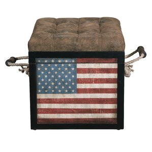 Old Glory Storage Ottoman by Highway To Home