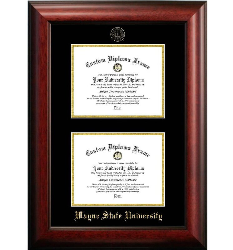 Diploma Frame Deals Wayne State University Double Degree Picture ...