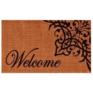 Skelley Scroll Welcome Doormat