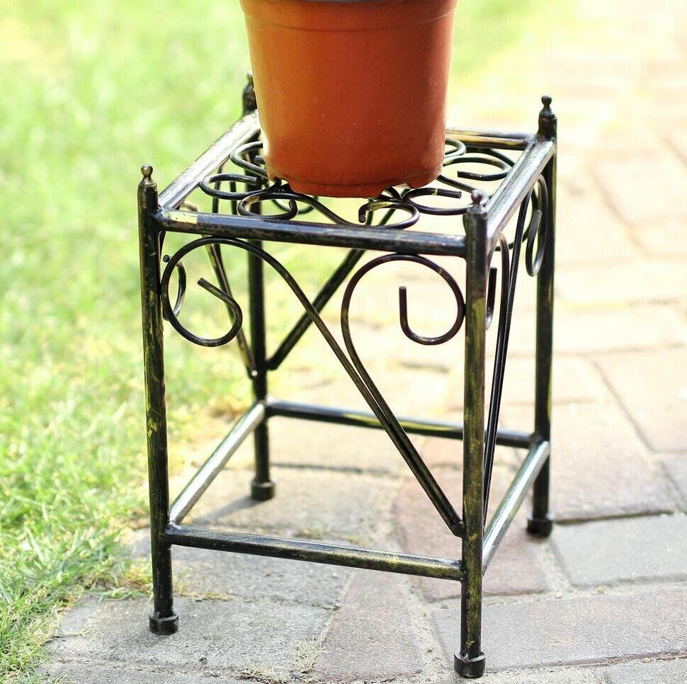 Ore Furniture Lattice Square Small Cast Iron Plant Stand Reviews Wayfair