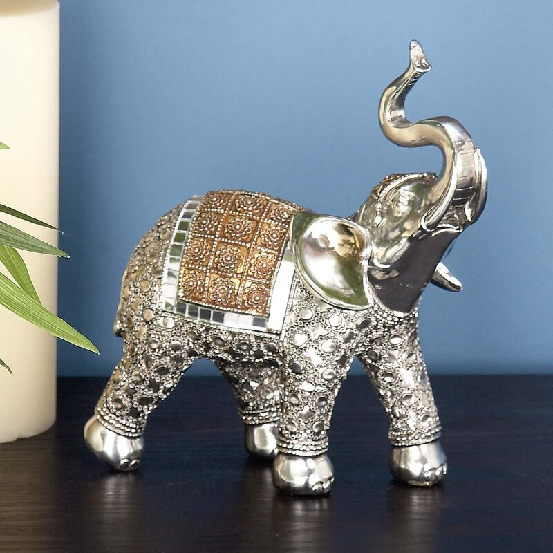 Shane Polystone Elephant Figurine