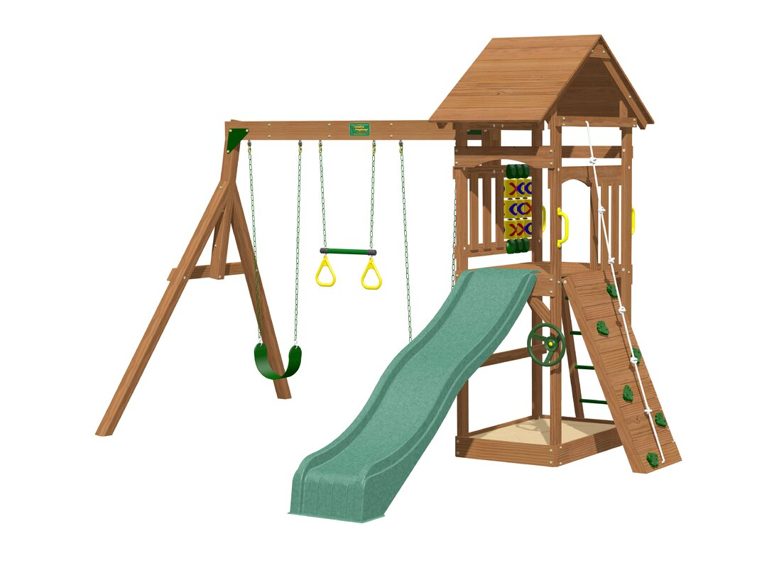 creative playthings riviera wooden swing set u0026 reviews wayfair
