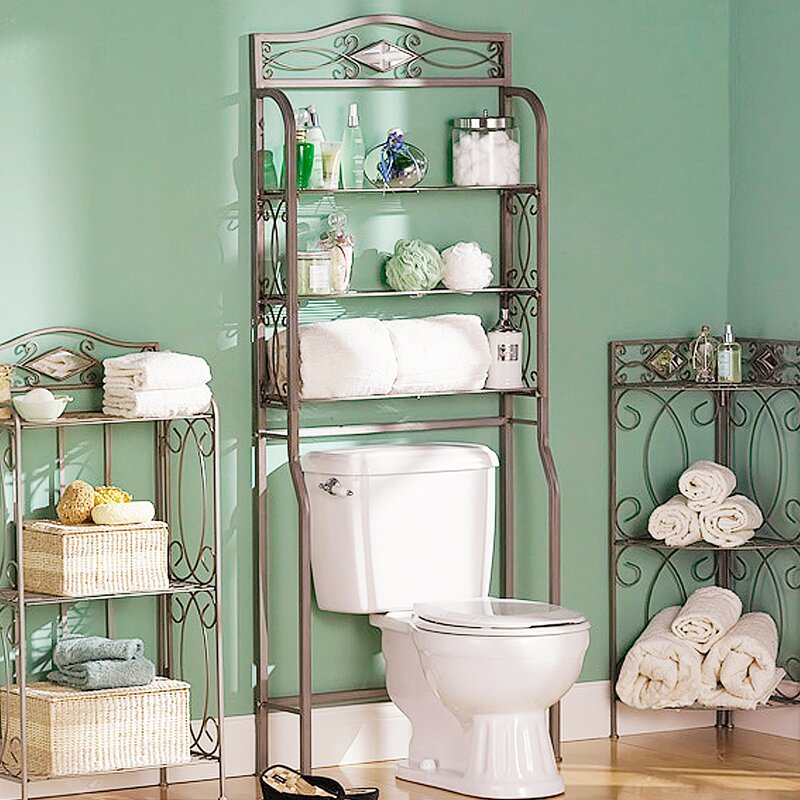 bathroom shelf over toilet. Zula Space saver Free Standing 27 25  W x 66 5 H Over the Toilet Storage Metal You ll Love Wayfair