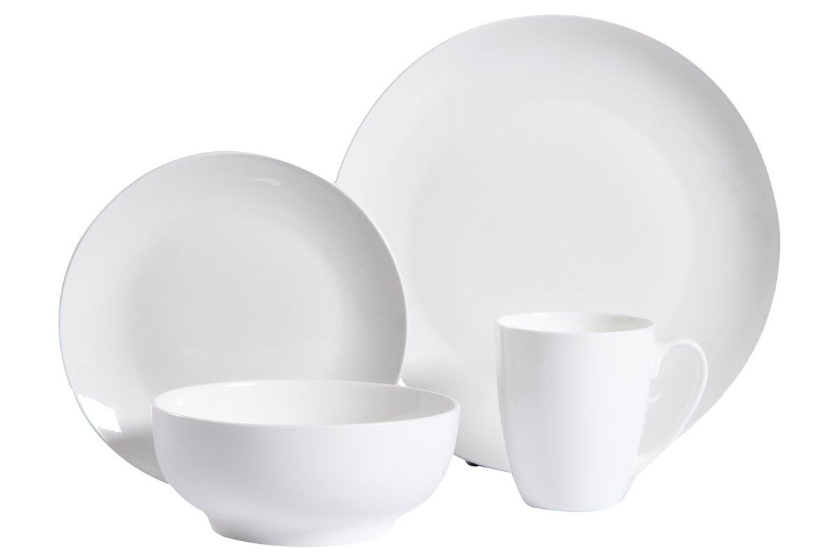 modern dinnerware sets  allmodern - woodruff  piece dinnerware set service for