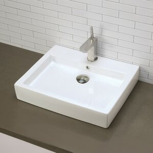 Tallia Classically Redefined Rectangular Vessel Bathroom Sink With Overflow