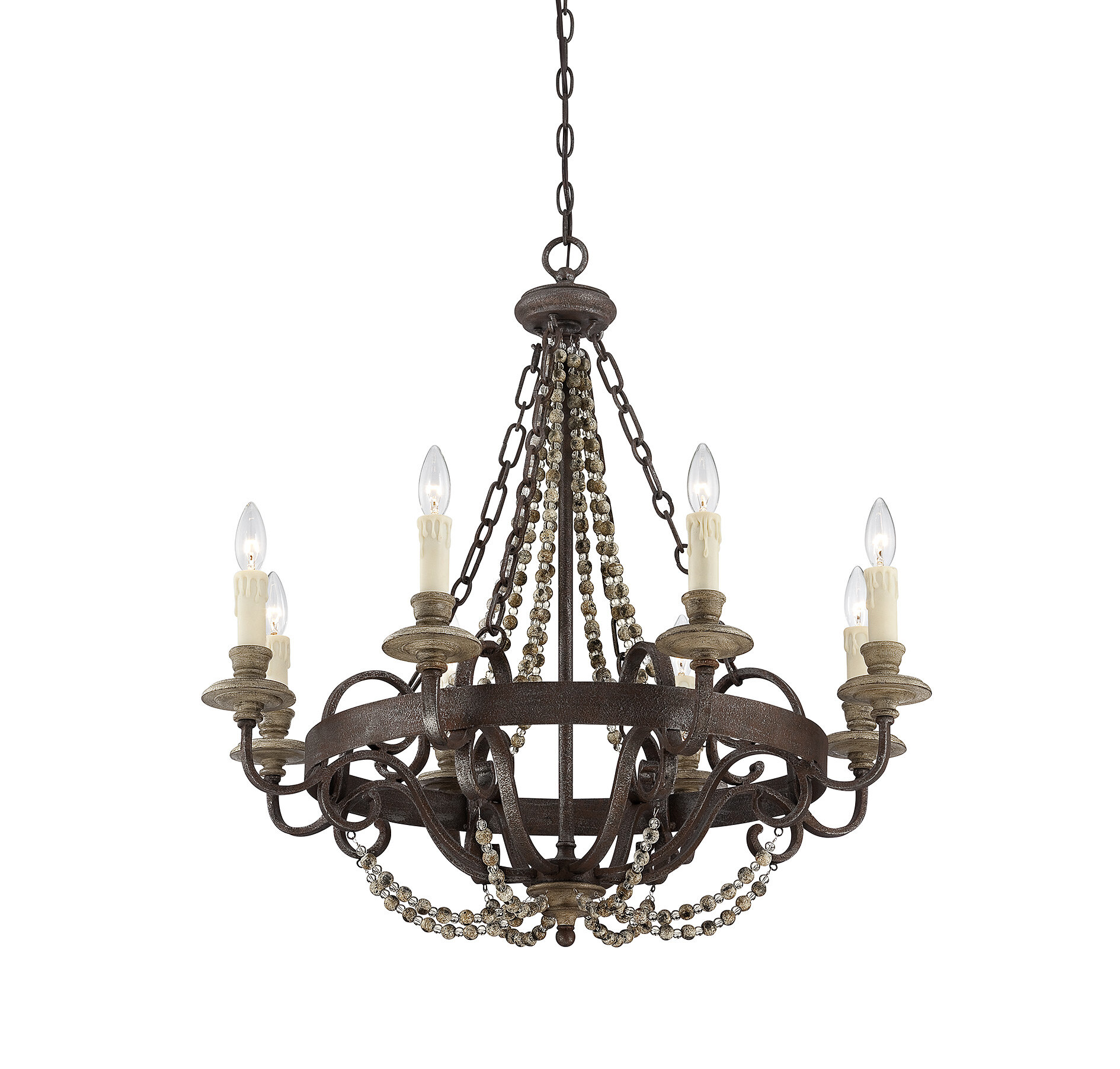 8 light candle style chandelier reviews birch lane arubaitofo Gallery