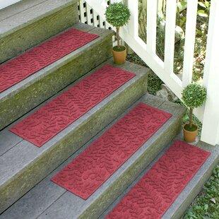 Red/Black Stair Tread (Set Of 4)