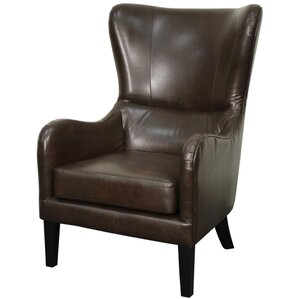 Glendale Bonded Leather Wing back chair by N..