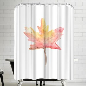 Jetty Printables Watercolor Autumnal Fall Leaf Shower Curtain