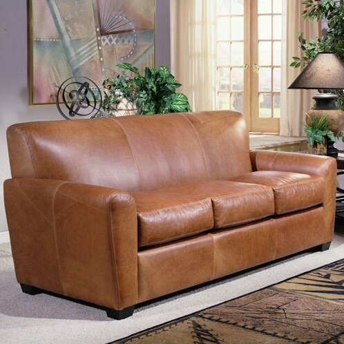 Charming Omnia Leather Jackson Leather Sleeper Sofa U0026 Reviews | Wayfair